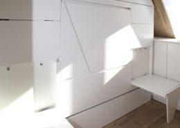 Roselier Agencement - Studio - Deux tabourets rabattables