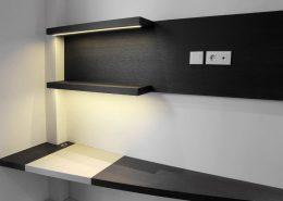 Roselier Agencement - Architectes-Sur-Mesure - Aménagement de bureau avec sous-main et éclairage led - Paris - Design Agence BR