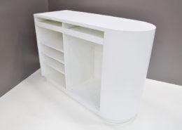Roselier Agencement - Comptoirs d'accueil - Comptoir double - Stratifié blanc alpin de chez Egger