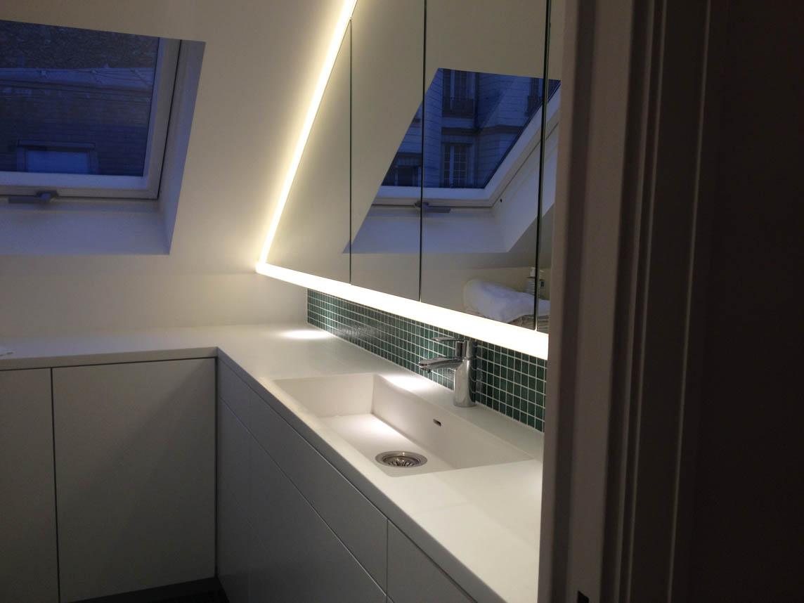 Cuisines salles de bains roselier agencement calvados for Agencement cuisine blanche