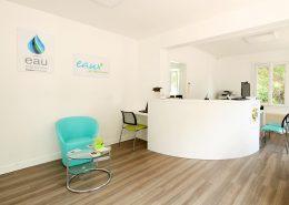 Roselier Agencement - Espace Entreprises - Comptoir d'accueil cintré - Rouen - Design Structure Réalisateur d'Espaces