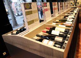 Roselier Agencement - Le Vin qui parle - Meuble de présentation et racks verticaux
