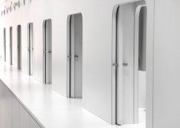 Roselier Agencement - Médical - Détails des cabines de tests - Design Galaktik