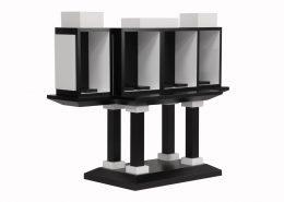 Roselier Agencement - Support œuvres d'art - Stratifié blanc et noir teinté dans la masse - Galerie Perrotin Paris - Design Xavier Veihlan-2